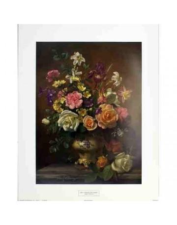 Iris narcisses et roses