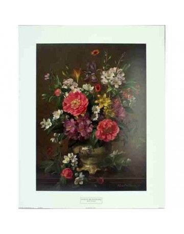 Bouquet d'iris et de pivoines