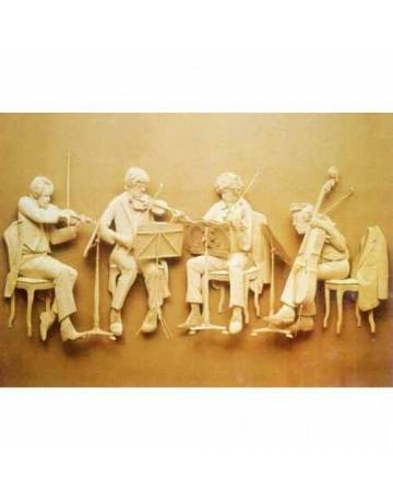 LES MUSICIENS EN PLATRE