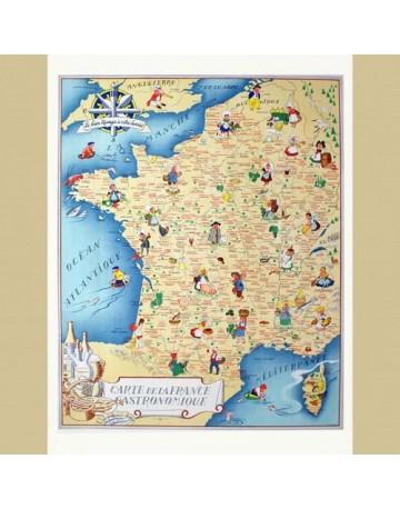 Carte de France Gastronomique